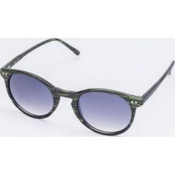 Okulary przeciwsłoneczne damskie aviatory: Okulary przeciwsłoneczne w zielonych oprawkach