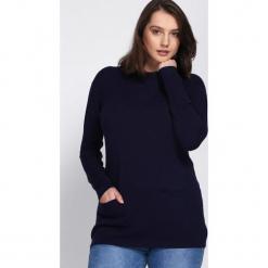 Granatowy Sweter Morning Drizzle. Niebieskie swetry klasyczne damskie Born2be, na jesień. Za 79,99 zł.