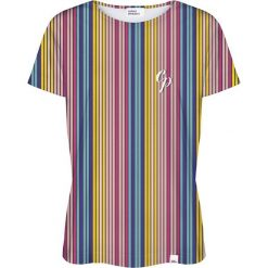 Colour Pleasure Koszulka damska CP-030 264 niebiesko-żółta r. M/L. Niebieskie bluzki damskie Colour pleasure, l. Za 70,35 zł.