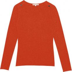 Sweter kaszmirowy w kolorze jasnobrązowym. Brązowe swetry klasyczne damskie marki Ateliers de la Maille, z kaszmiru, z okrągłym kołnierzem. W wyprzedaży za 363,95 zł.