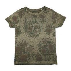 T-shirty chłopięce z nadrukiem: Koszulka w kolorze khaki