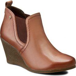 Botki LASOCKI - WI23-LIDIA-01 Brązowy. Brązowe buty zimowe damskie Lasocki, z materiału, na obcasie. W wyprzedaży za 90,00 zł.