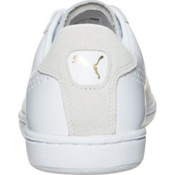 Puma MATCH 74  Tenisówki i Trampki white/gold foil. Białe tenisówki damskie Puma, z materiału. W wyprzedaży za 149,50 zł.