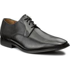 Półbuty CLARKS - Gliman Lace 261276547 Black Leather. Czarne półbuty skórzane męskie marki Clarks. W wyprzedaży za 279,00 zł.
