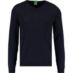 Swetry klasyczne męskie: BOSS Green CALLUM REGULAR FIT Sweter blue