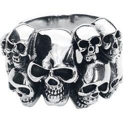 Sygnety męskie: etNox Hard and Heavy Skulls Pierścień srebrny