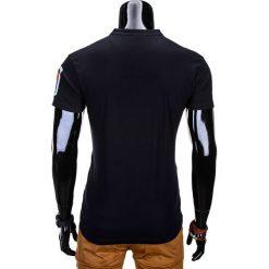 T-SHIRT MĘSKI BEZ NADRUKU S665 - CZARNY. Szare t-shirty męskie z nadrukiem marki Ombre Clothing, m, z bawełny, ze stójką. Za 35,00 zł.