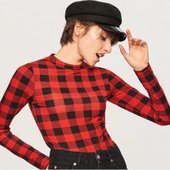 Koszulka ze stójką - Czerwony. Czerwone t-shirty damskie Reserved, l, ze stójką. Za 39,99 zł.