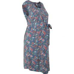 Sukienka ciążowa bonprix indygo wzorzysty. Niebieskie sukienki ciążowe marki bonprix, do pracy, na lato, z wiskozy, biznesowe, moda ciążowa. Za 59,99 zł.