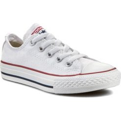 Trampki CONVERSE - Yth C/T All Star 3J256  Optical White. Białe trampki chłopięce Converse, z materiału, na sznurówki. W wyprzedaży za 169,00 zł.
