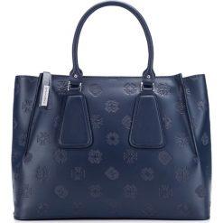 Torebka damska 85-4E-006-7. Niebieskie torebki klasyczne damskie marki Wittchen, w paski. Za 539,00 zł.