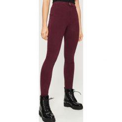 Rurki damskie: Spodnie skinny - Bordowy