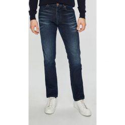 Wrangler - Jeansy Spencer. Niebieskie jeansy męskie slim Wrangler, z bawełny. Za 369,90 zł.