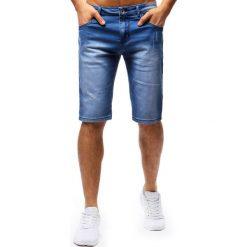 Bermudy męskie: Spodenki męskie jeansowe niebieskie (sx0663)