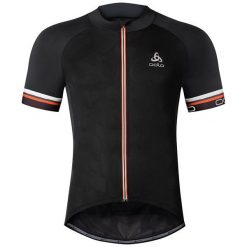 Odlo Koszulka męska Stand-up collar s/s full zip BREATHE czarna r. M (411172). Szare koszulki sportowe męskie marki Odlo. Za 299,95 zł.