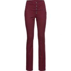Spodnie z wysokim stanem: Spodnie z wysoką talią bonprix bordowy