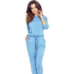 Rio – Kombinezon z ozdobnymi wiązaniami jeansowy niebieski. Niebieskie kombinezony damskie Bergamo, z jeansu. Za 129,15 zł.