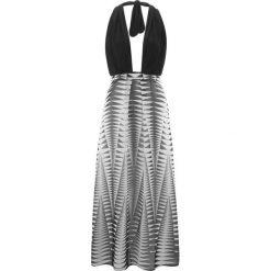Sukienka plażowa bonprix czarno-biały wzorzysty. Czarne sukienki na komunię bonprix, na plażę, z dżerseju. Za 109,99 zł.
