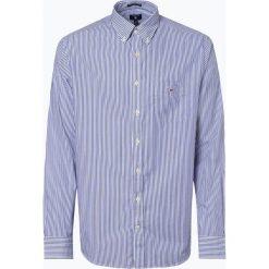 Gant - Koszula męska, niebieski. Niebieskie koszule męskie na spinki GANT, l, w paski, z klasycznym kołnierzykiem. Za 379,95 zł.
