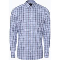 Olymp Level Five - Koszula męska łatwa w prasowaniu, niebieski. Niebieskie koszule męskie na spinki marki OLYMP Level Five, m, z dekoltem karo. Za 149,95 zł.