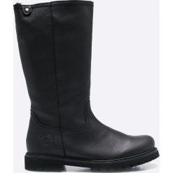 Panama Jack - Kozaki. Czarne buty zimowe damskie Panama Jack, z materiału, z okrągłym noskiem, na obcasie. W wyprzedaży za 429,90 zł.
