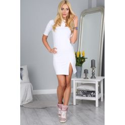 Sukienki hiszpanki: Sukienka Biała 28990