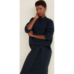 Mango - Sweter Wally. Czarne swetry klasyczne damskie marki Mango, l, z dzianiny, z okrągłym kołnierzem. Za 119,90 zł.