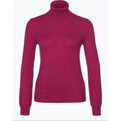 Golfy damskie: Franco Callegari – Sweter damski z czystego kaszmiru, lila