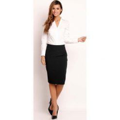 Spódniczki: Czarna Spódnica Klasyczna Ołówkowa Midi