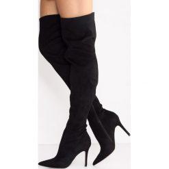 ALDO SAILORS Kozaki na obcasie black. Czarne buty zimowe damskie ALDO, z materiału, na obcasie. W wyprzedaży za 349,30 zł.