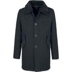 Brandit Pea Coat Manhattan mit Fellkragen Płaszcz czarny. Czarne płaszcze na zamek męskie Brandit, m, z polaru. Za 399,90 zł.