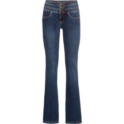 Dżinsy SHAPE bonprix ciemnoniebieski. Niebieskie spodnie z wysokim stanem bonprix, z jeansu. Za 89,99 zł.