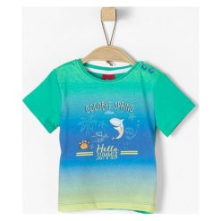 S.Oliver T-Shirt Chłopięcy 80 Wielokolorowy. Szare t-shirty chłopięce S.Oliver, z bawełny. Za 55,00 zł.