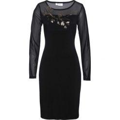 Sukienka wieczorowa bonprix czarny. Czarne sukienki koktajlowe bonprix, dopasowane. Za 109,99 zł.