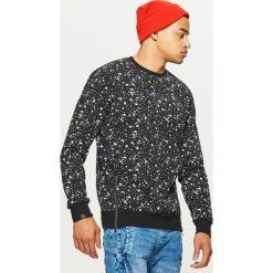 Odzież: Bluza z nadrukiem all over - Czarny