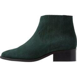 Vero Moda VMLENE Ankle boot peat. Zielone botki damskie skórzane marki Vero Moda. Za 419,00 zł.