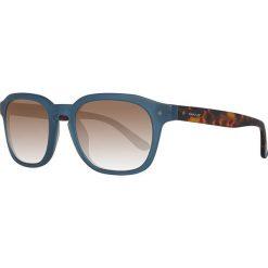 Okulary przeciwsłoneczne męskie: Okulary męskie w kolorze niebiesko-brązowym