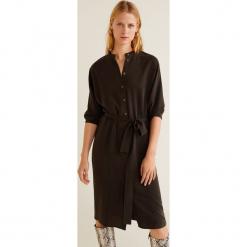 Mango - Sukienka Norte. Szare długie sukienki marki Mango, na co dzień, l, z lyocellu, casualowe, ze stójką, z długim rękawem, proste. Za 199,90 zł.