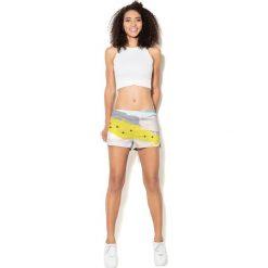 Spodnie damskie: Colour Pleasure Spodnie damskie CP-020 26 biało-żółte r. XS/S