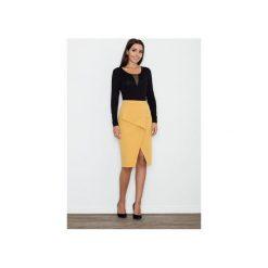 Spódnice wieczorowe: Spódnica M559 Żółty