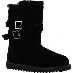 """Buty zimowe damskie: Skórzane kozaki """"Huntspill Waterproof"""" w kolorze czarnym"""
