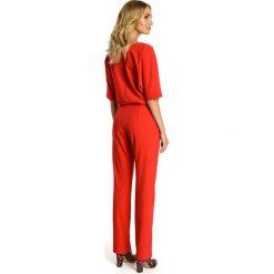 GABY Kombinezon z luźniejszą górą - czerwony. Czerwone kombinezony eleganckie Moe, z krótkim rękawem, krótkie. Za 169,90 zł.