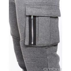 Spodnie męskie: SPODNIE MĘSKIE DRESOWE P462 - GRAFITOWE