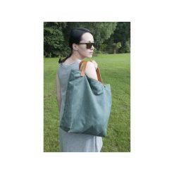 Torba tote XXL - zieleń. Zielone torebki klasyczne damskie Pracownia 166, ze skóry, duże. Za 149,00 zł.