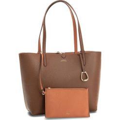 Torebka LAUREN RALPH LAUREN - Merrimack 431697234002 Tan/Orange. Brązowe torebki klasyczne damskie Lauren Ralph Lauren, ze skóry ekologicznej, duże. Za 789,90 zł.