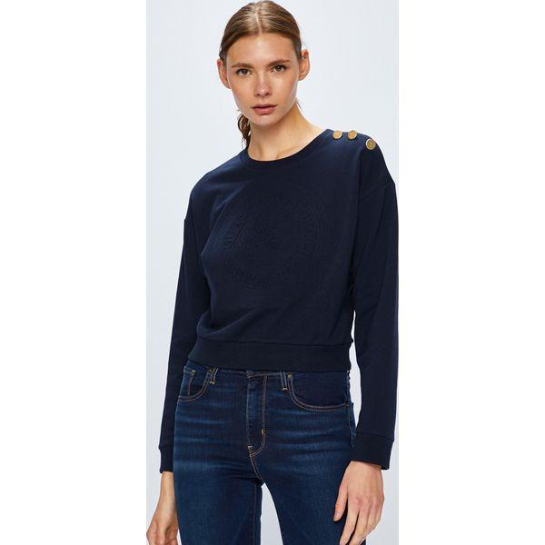 d9038f14f458f Guess Jeans - Bluza - Szare bluzy damskie Guess Jeans