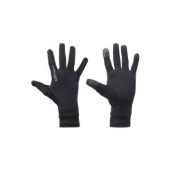 Rękawiczki dotykowe. Czarne rękawiczki damskie marki KALENJI, na zimę. Za 19,99 zł.