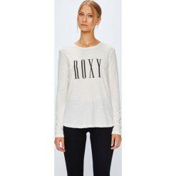 Roxy - Bluzka. Szare bluzki damskie Roxy, m, z nadrukiem, z bawełny, casualowe, z okrągłym kołnierzem. Za 99,90 zł.