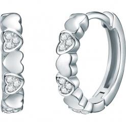 Powlekane kolczyki-kreole z cyrkoniami. Szare kolczyki damskie Stylowa biżuteria, z cyrkonią, srebrne. W wyprzedaży za 99,95 zł.