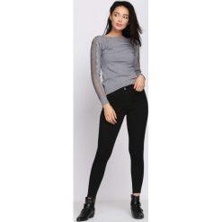 Spodnie damskie: Czarne Legginsy Ask After